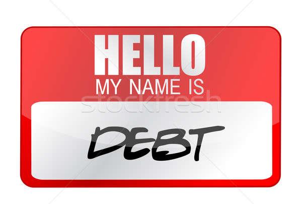 Nome debito targhetta illustrazione design Foto d'archivio © alexmillos