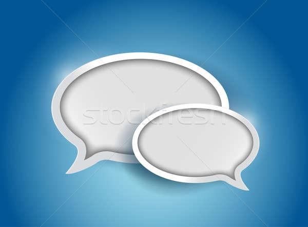 Konuşma balonu iletişim örnek dizayn grafik duvar kağıdı Stok fotoğraf © alexmillos