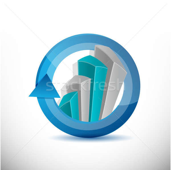 Business, cycle graph chart illustration  Stock photo © alexmillos