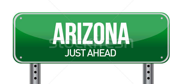 Arizona placa sinalizadora verde postar maneira conceito Foto stock © alexmillos