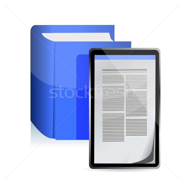Ebook leitor computador telefone internet Foto stock © alexmillos