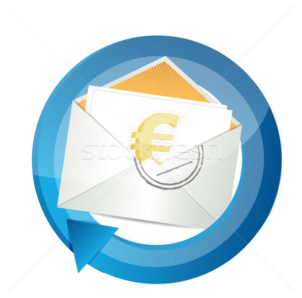 Euro currency cycle illustration design Stock photo © alexmillos