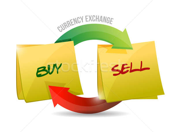 Buy sell currency diagram illustration  Stock photo © alexmillos