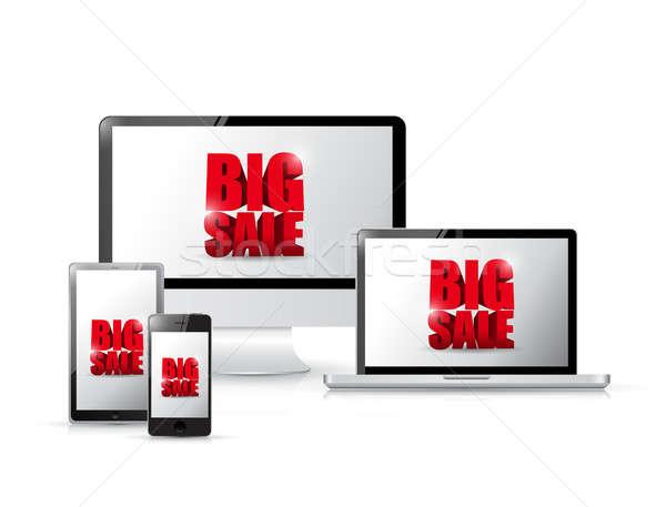 Stock photo: Big electronic sale concept illustration design