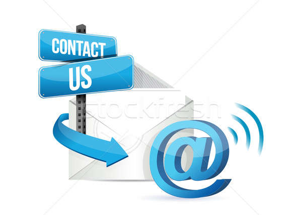 Contact us online email sign  Stock photo © alexmillos