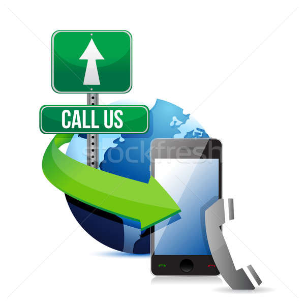 Contact us, call or mail  Stock photo © alexmillos