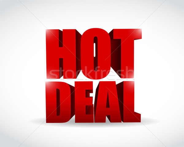 Hot deal 3d text illustration design  Stock photo © alexmillos