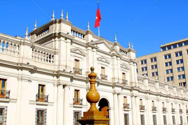 LA palota belváros Santiago Chile víz Stock fotó © alexmillos