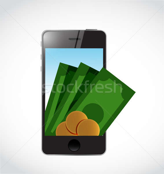 mobile payment concept isolated illustration Stock photo © alexmillos