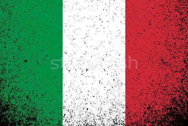 Zdjęcia stock: Włoski · grunge · atramentu · banderą · ilustracja · projektu