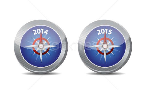 2014 2015 kompas przewodnik ilustracja projektu Zdjęcia stock © alexmillos