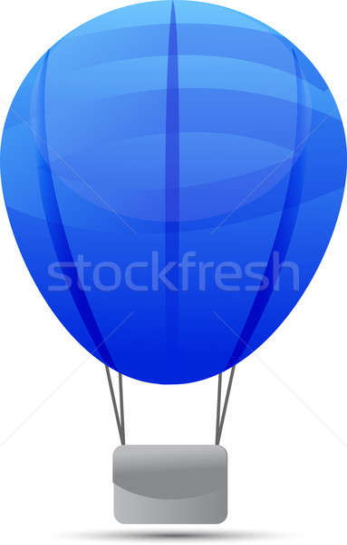 hot air balloon isolated on a white background Stock photo © alexmillos