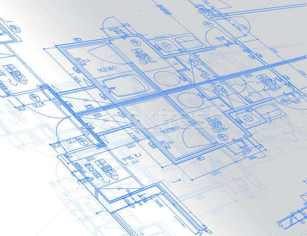 Sample of architectural blueprints over a light gray background  Stock photo © alexmillos