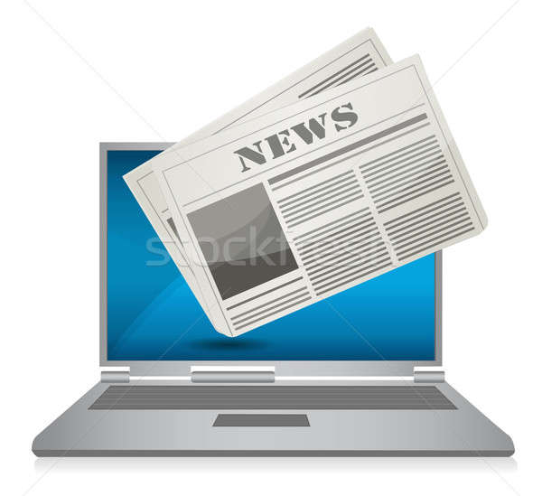 Online News concept illustration design over a white background Stock photo © alexmillos