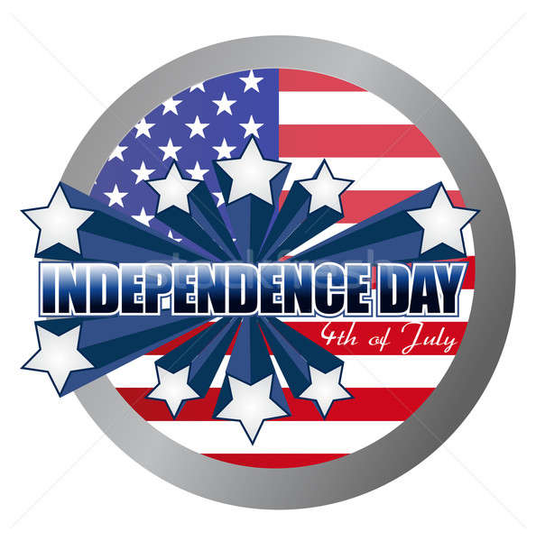 4th of july independence day seal illustration design Stock photo © alexmillos