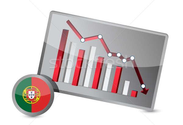 portugal suffering crisis graph design Stock photo © alexmillos