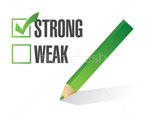 strong over weak selection illustration design over white Stock photo © alexmillos