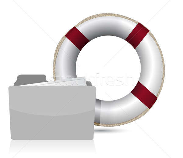 lifesaver sos folder illustration design over white background Stock photo © alexmillos
