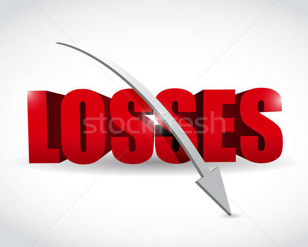 3d losses text illustration design over white Stock photo © alexmillos