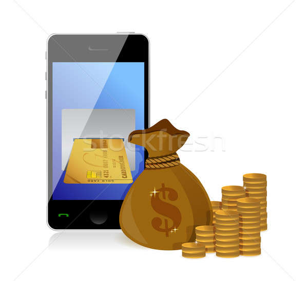 Pénzügyi gyártmány pénz illusztráció terv fehér Stock fotó © alexmillos