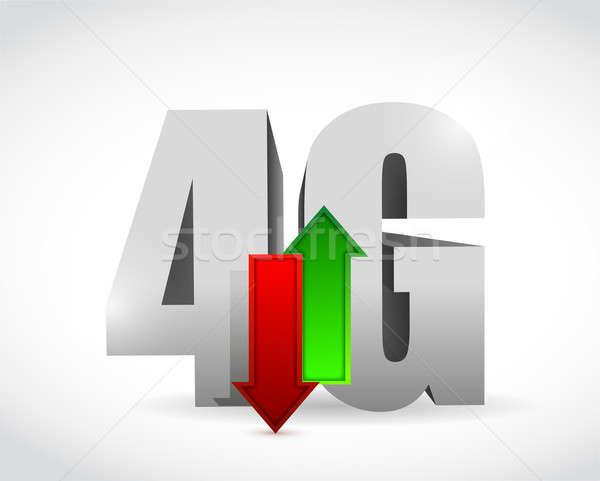 4g связи иллюстрация дизайна бизнеса телефон Сток-фото © alexmillos