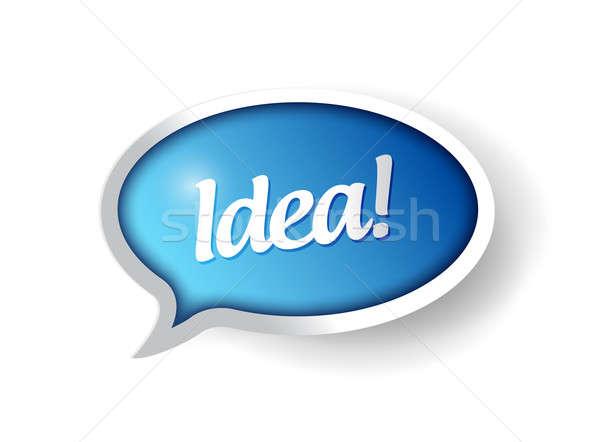 Stock fotó: ötlet · üzenet · buborék · illusztráció · terv · kommunikáció