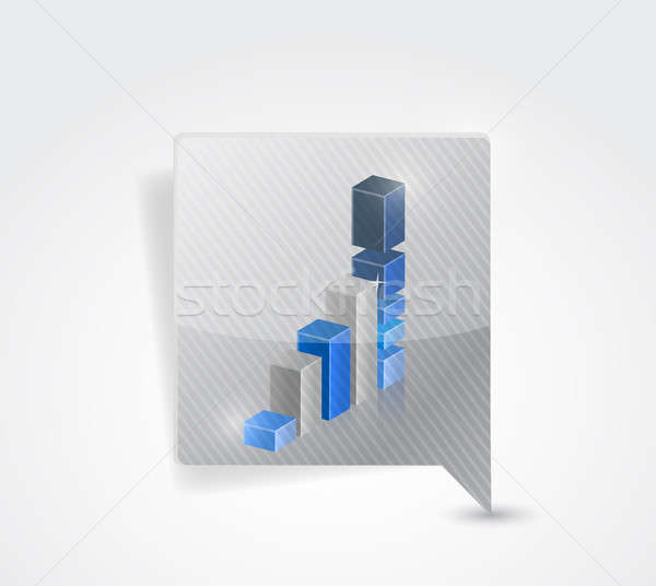 Successful business graph pointer locator  Stock photo © alexmillos