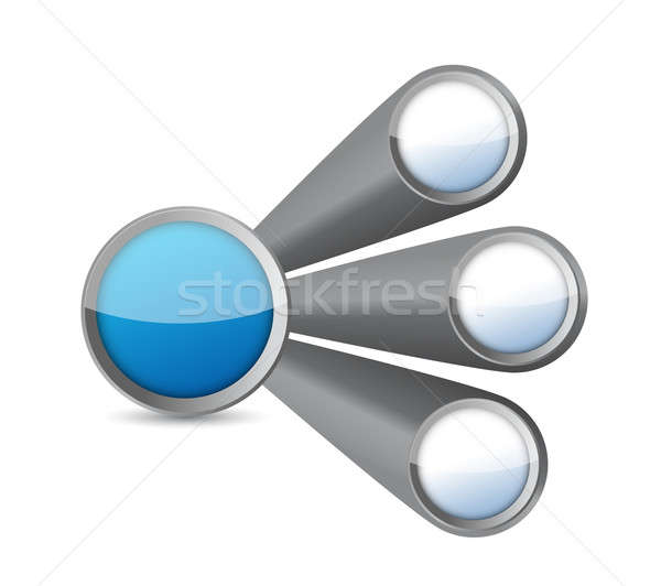 circles diagram illustration design over a white background Stock photo © alexmillos