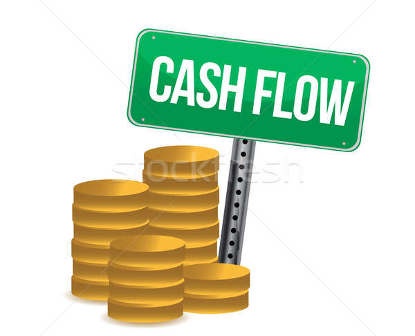 Cash flow and signs  Stock photo © alexmillos