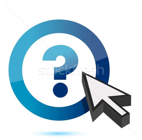 Question mark symbol with cursor  Stock photo © alexmillos