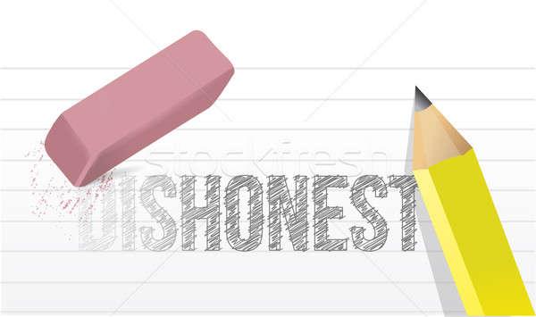 Desonesto honesto trabalhar projeto lápis fundo Foto stock © alexmillos