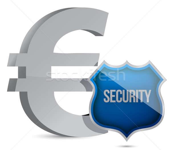 ユーロ 保護された 実例 デザイン お金 背景 ストックフォト © alexmillos
