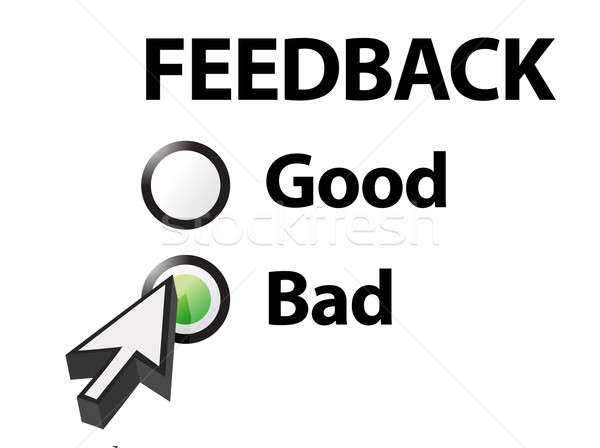 bad selected on a feedback question. Illustration design Stock photo © alexmillos