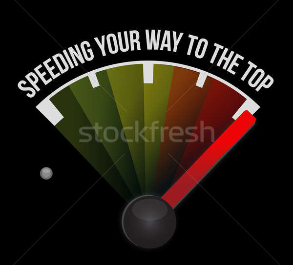 Speeding your way to the top concept speedometer Stock photo © alexmillos