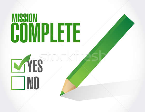 mission complete approval sign concept Stock photo © alexmillos