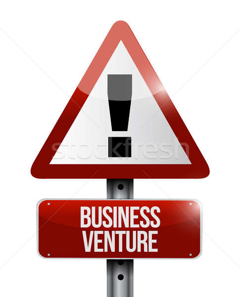 business venture road warning sign concept Stock photo © alexmillos