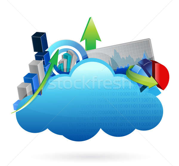 Business financial economy Cloud computing concept Stock photo © alexmillos