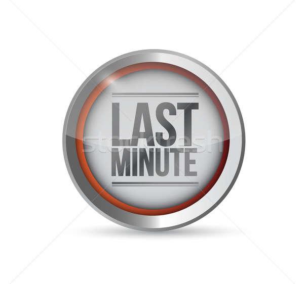 último minuto botón ilustración diseno blanco Foto stock © alexmillos