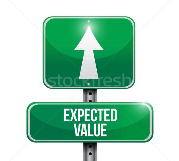 expected value road sign illustration design Stock photo © alexmillos