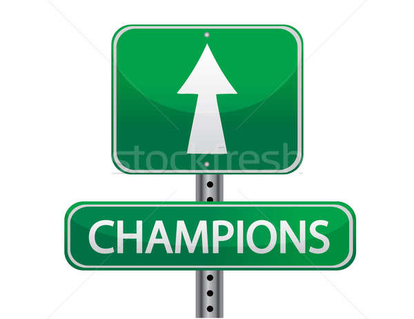 champions sign Stock photo © alexmillos