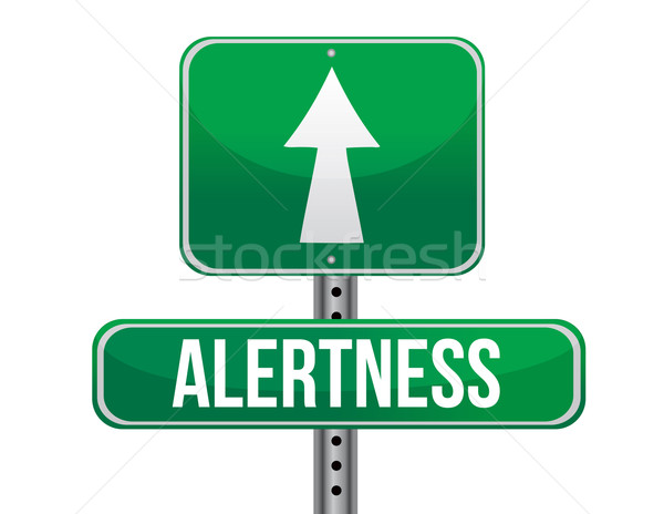 alertness road sign illustration design over a white background Stock photo © alexmillos