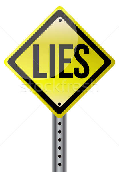 Yellow lies street sign illustration design Stock photo © alexmillos