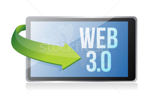 word Web 3.0 on a tablet, seo concept illustration design Stock photo © alexmillos