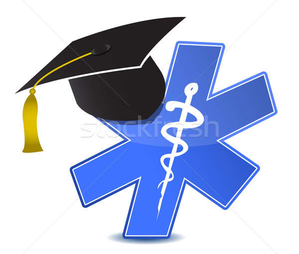 medical education symbol illustration design over white Stock photo © alexmillos