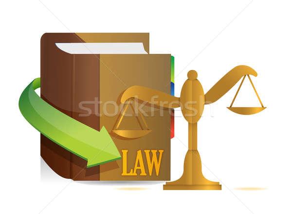 Législation équilibre livre illustration design blanche Photo stock © alexmillos