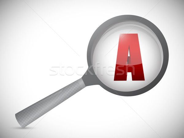 plan a under review. illustration design over a white background Stock photo © alexmillos