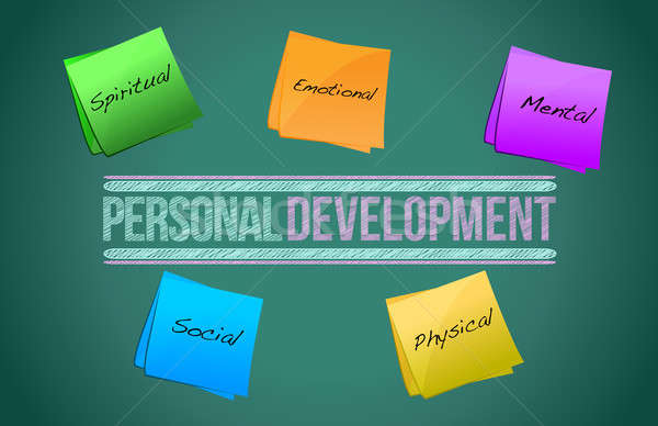 Personal development management business strategy concept diagra Stock photo © alexmillos