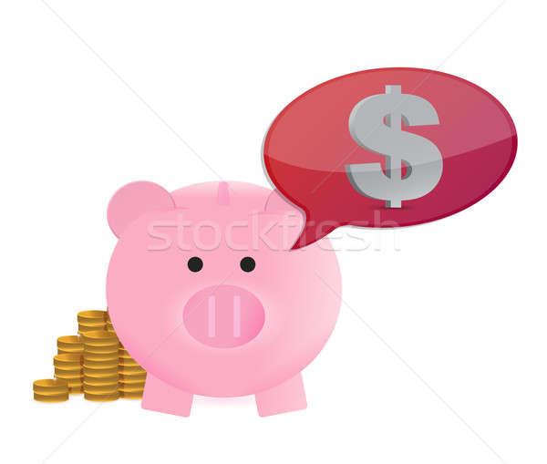money on my mind great savings concept illustration design over  Stock photo © alexmillos