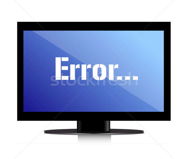 error message on a monitor illustration design over white Stock photo © alexmillos