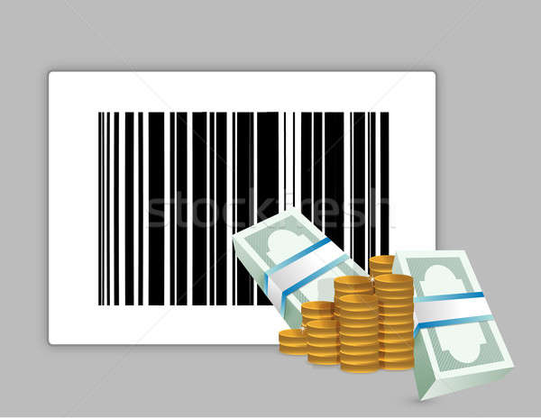 barcode product price illustration design over a grey background Stock photo © alexmillos